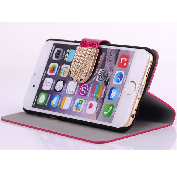 Flip Phone Case Cover For Asus Zenfone Live ZB501KL Original Rhinestone Cases Bling Fundas Diamond Coque Glitter Capa