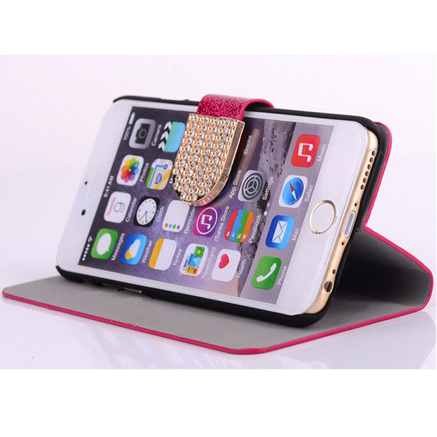 Flip Phone Case Cover For Lenovo K5 / K5 Plus/Lemon 3 A6020A46 A6020 Original Rhinestone Cases Bling Fundas Diamond Coque