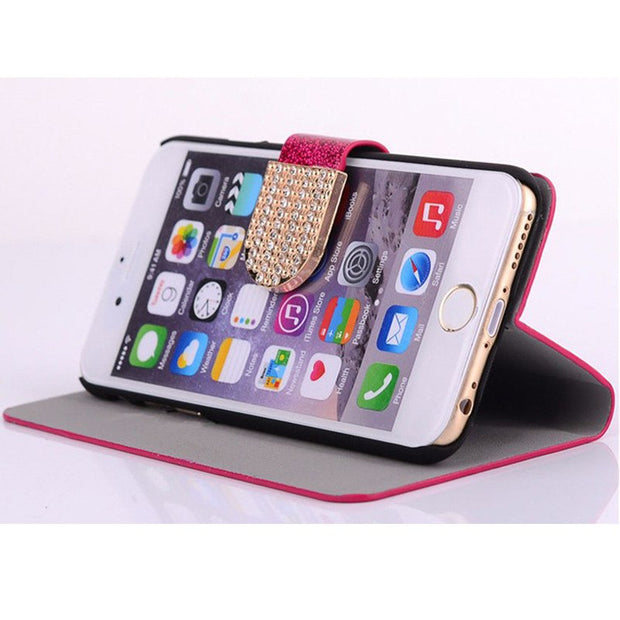Flip Phone Case Cover For Meizu M5S / M5S Mini Original Rhinestone Cases Bling Fundas Diamond Coque Glitter Capa Card Holder