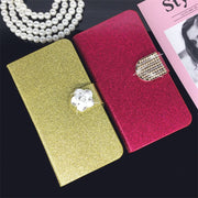 Flip Phone Case Cover For Sony Xperia M2 D2303 S50h D2305 D2306 Original Rhinestone Cases Bling Fundas Diamond Coque