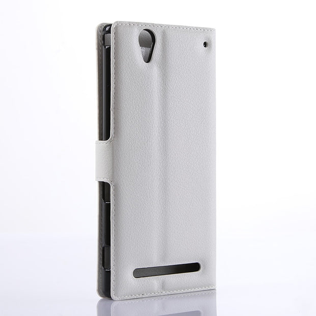 new arrival fbbbe f361b Flip Wallet Case For Sony Xperia T2 Ultra / Dual D5322 XM50h ...
