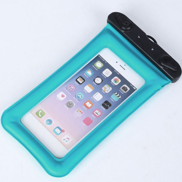 Float Airbag Waterproof Bag Double-button Underwater Pouch Phone Case Outdoor Drifting Universal Mobile Phone Bag Swimming Bag