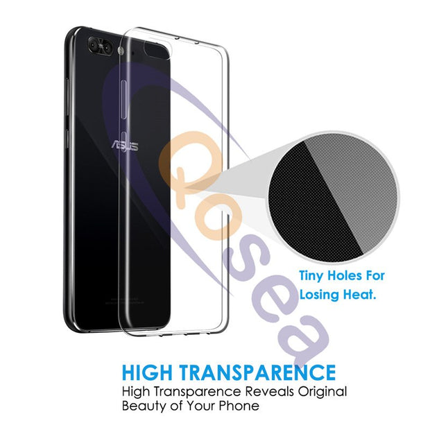 For ASUS Zenfone 4 Pro ZS551KL Case Transparent Luxury Anti-knock Silicone Ultra Clear Soft TPU Zenfone 4 Pro Protective Cover