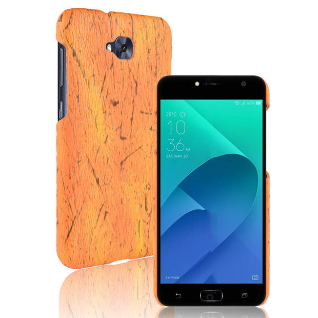 For Asus Zenfone 4 Selfie ZB553KL Phone Case Bumper PC Plastic PU Leather Cover For Asus ZenFone 4 Live ZB553KL Wood Cases