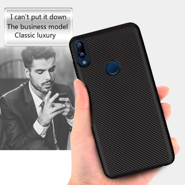 For Asus Zenfone Max Pro (M1) Case Luxury Shockproof Carbon Fiber Ultra Thin Soft TPU Case For Asus Zenfone Max Pro (M1) ZB601KL