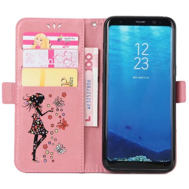 For Coque Samsung Galaxy S8 Case Leather Wallet Cell Phone Cases Samsung Galaxy S8 Plus Case Flip Cover Luxury S8 + Card Slot