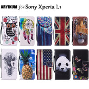 For Coque Sony Xperia L1 Case Sony G3311 G3313 Dual G3312 Flip PU Leather Wallet Painted Phone Cases For Sony EXperia L1 Case