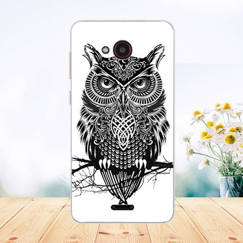 For Fly Fs458 Stratus 7 Case COVER Soft Tpu Tiger Owl Rose Pattern Painted Phone Case For Fly Stratus 7 Fs458 Fundas Phone Sheer