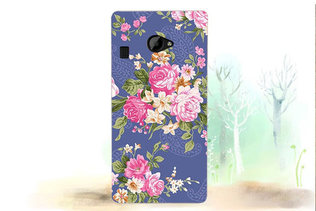 For Fly Fs451 Case Cover 2017 New Arrival UV Painted Colored Flowers Fruit Hard PC Case For Fly FS451 Nimbus 1 Cover Phone Bags