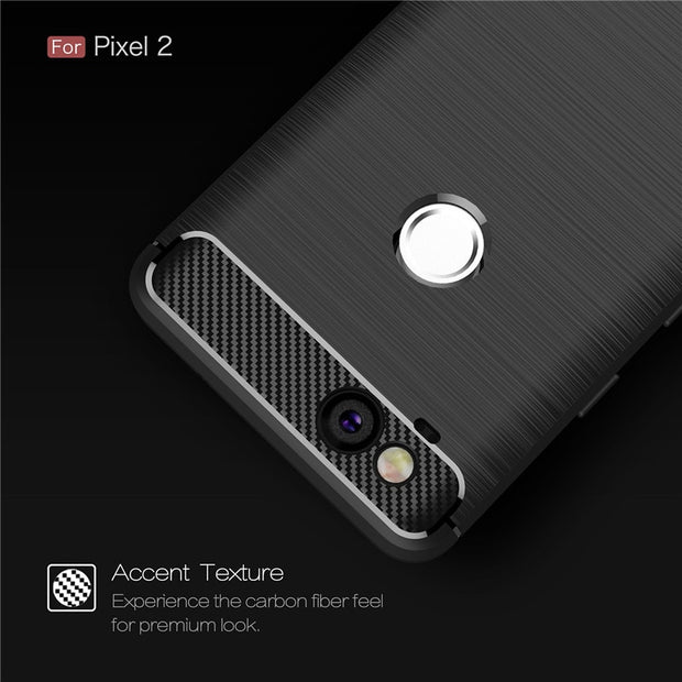 For Google Pixel 2 / 2XL Case Heavy ShockProof Carbon Fiber Soft TPU Back Cover For Pixel 3 / 3 XL Full Protective Coque Fundas