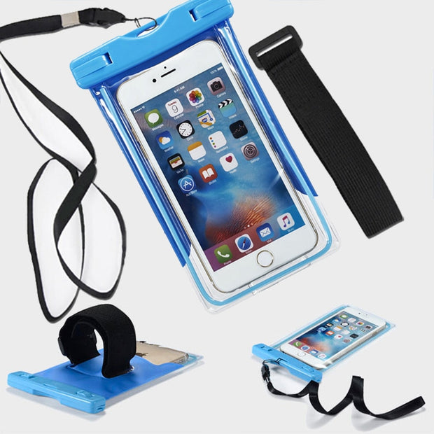 For Homtom HT20 Pro HT7 Pro Waterproof Case Cover Snow Protection Fundas Underwater Cases For Homtom S8 S7 S16 S9 Plus Hang Bag