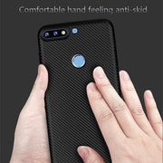 For Huawei 7C Case Plain Luxury Shockproof Carbon Fiber Ultra Thin Soft TPU Phone Case For Huawei Enjoy 8 Slicone Back Cover