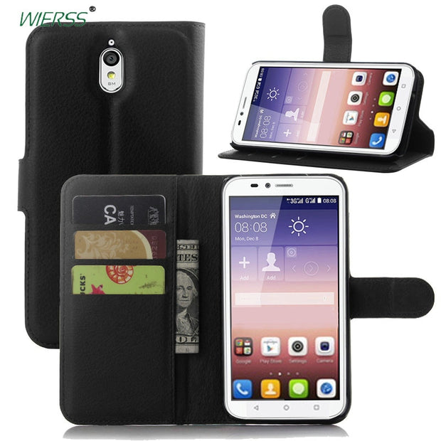 For Huawei Ascend Y625 Wallet Flip Leather Case For Huawei Ascend Y625 5-inch Phone Leather Back Cover Case With Stand Etui>