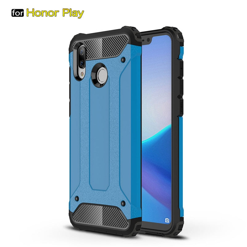 the best attitude 96f4c 76f01 For Huawei Honor Play Case Cover Funda New Luxury Shockproof Bumper Protect  For Honor Play Smartphone Case Back Cover Coque 6.3