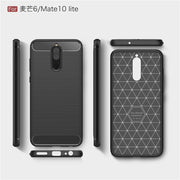 For Huawei Mate 10 Lite Case TPU Silicone Bumper Carbon Fiber Back Cover For Nova 2i / Honor 9i Soft Anti-knock Coque Fundas