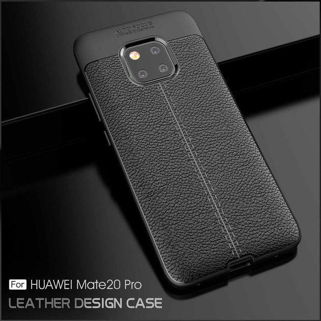 For Huawei Mate 20 Drop-Proof Leather Texture Soft TPU Case For Huawei Mate  20 Mate 20 Lite