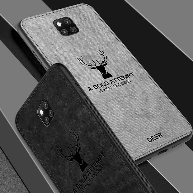 For Huawei Mate 20 Pro Case Luxury Soft Silicone+fabric Deer Protect Back Cover Case For Huawei Mate 20 20pro Full Cover Shell