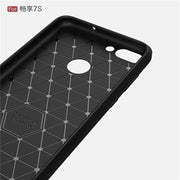 For Huawei P Smart Case Luxury Carbon Fiber Soft TPU Shockproof Back Cover For Huawei PSmart Slim Silicone Shell Coque Fundas