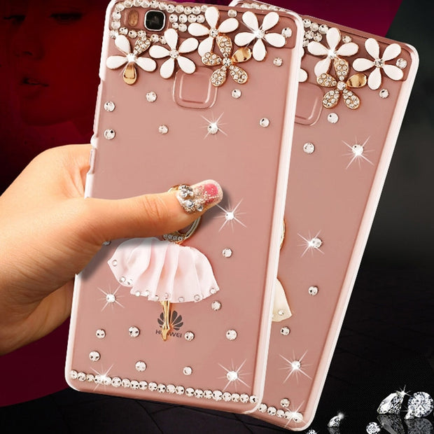 For Huawei P10 Lite Case Fashion DIY Rhinestone PC Hard Case For Huawei Nova Lite Cover Case For Huawei P10 Lite/Nova Lite 5.2""