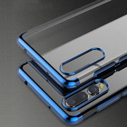 For Huawei P20 / P20 Lite / P20 Pro Case Ultra Slim Plated Chrome Clear Case Scratch Resistant Soft Silicone Transparent Cover