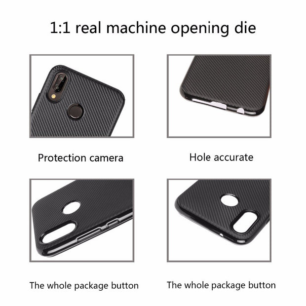 For Huawei P20 P30 Lite Case Luxury Shockproof Carbon Fiber Ultra Thin Soft TPU Phone Case For Huawei P20 P30 Pro Slicone Cover