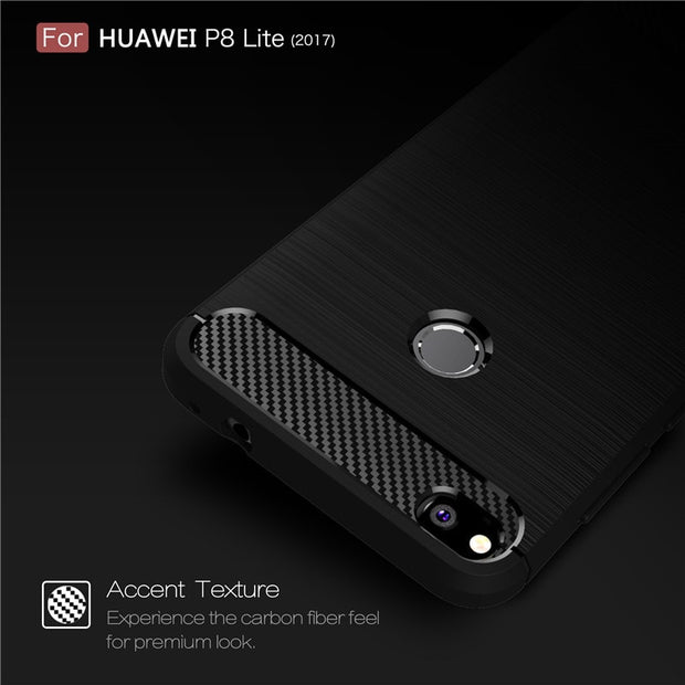 For Huawei P8 P9 Lite 2017 P10 Plus Soft TPU Carbon Fiber Shockproof Cover For Mate 8 9 10 Pro Silicone Armor Case Honor 7X