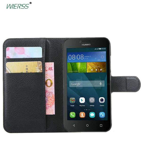 For Huawei Y5 Y560 4.5-inch Wallet Flip Leather Case For Huawei Y5 Y560 4.5-inch Phone Leather Back Cover Case With Stand Etui>