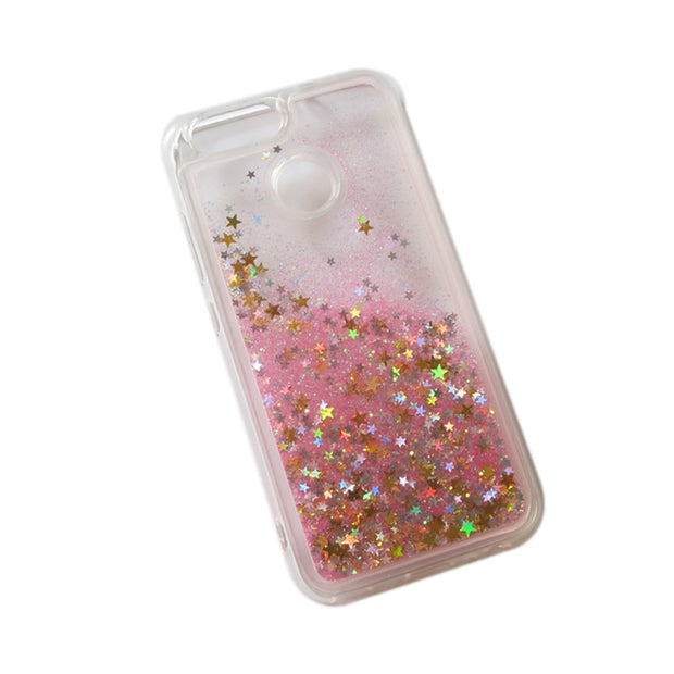 For Huawei Y6 Pro 2017 Case Glitter Bling Quicksand Back Case ...