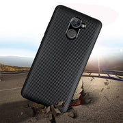 For Huawei Y7 2017 Y7 Prime Case Luxury Ultra Thin Carbon Fiber Soft Tpu Cover Silicone Case For Huawei Y5 Y6 2017 Phone Bag