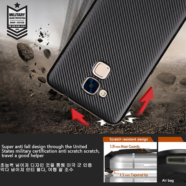 For Huawei Honor 5A 5C Case Luxury Ultra Thin Carbon Fiber Soft Tpu Cover Silicone Case Honor 6A Pro 6C Pro Phone Bag Case