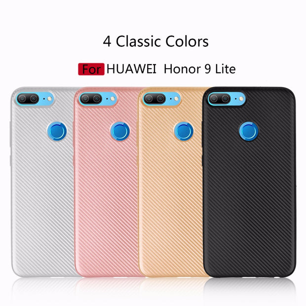 For Huawei Honor 9 Lite 9 Youth Premium Case Luxury Ultra Thin Carbon Fiber Soft Tpu Cover Silicone Case Honor 9i Phone Bag Case