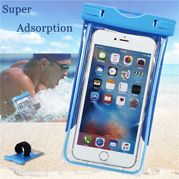 For Huawei P8 P9 Lite P7 Y635 Seal Waterproof Case Diving Bag Phone Underwater Pouch Case For Xiaomi Mi5 Mi4 Mi4c 5 Mi4s Redmi 3