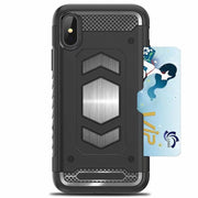 For Iphone X XS Max XR 5 5s SE 6 6S 7 8 Plus Luxury Hybrid Armor Car Magnetic Suction Bracket Case Rugged Soft Card Slot Cover