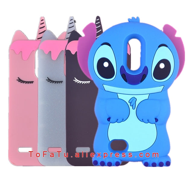 For LG K9 X210NMW LV3 2018 Aristo2 X210 Case 3D Cute Cartoon Soft Rubber Silicon Stitch Case For LG K8 2018