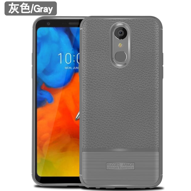 For LG Q Stylo 4 Q710MS Case Q Stylo4 Shockproof Bumper Anti-fingerprint Matte TPU Silicon Case Cover For LG Q Stylo 4 6.2""