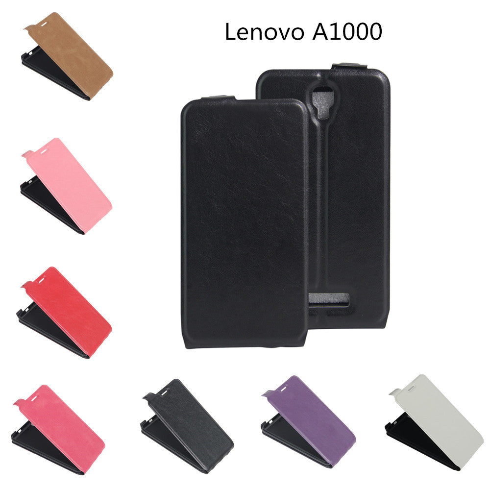 For Lenovo A1000 Case 4 0inch PU Leather Case Cover For Lenovo A1000 A 1000  Phone Skin Vertical Flip Up And Down Phone Cases