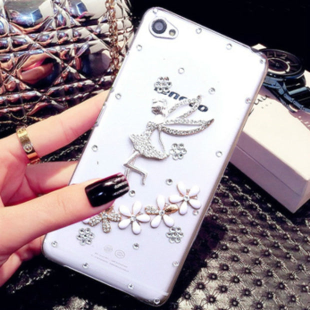 For Lenovo S60 Case, 6 Style 3D Fashion Rhinestone Dream Girl Clear Plastic Mobile Phone Protection Shell Case For Lenovo S60 5""