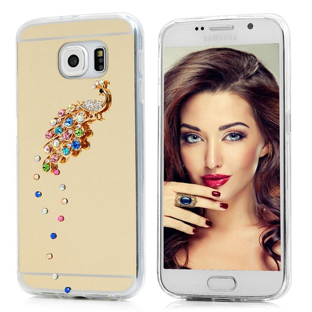For Meilan 6 Case 3D Bling Crystal Diamond Colorful Peacock Cases For Meilan Pro 6 Note 3 5
