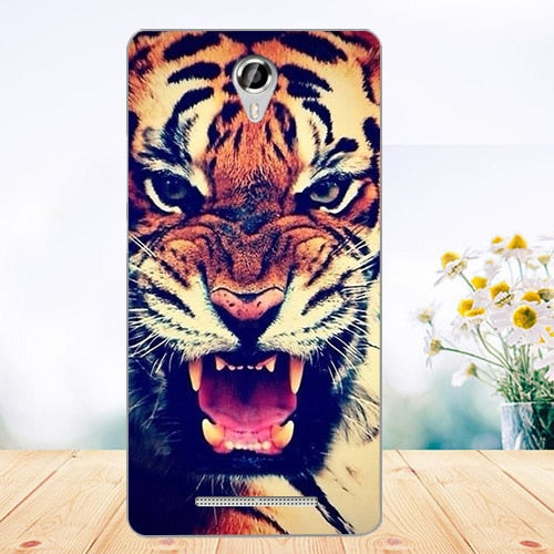 "For Micromax Bolt Q354 Case Cover 5.0"" Pattern Painted Colored Tiger Owl Rose Soft Tpu Case For Micromax Q354 Fundas Phone Sheer"