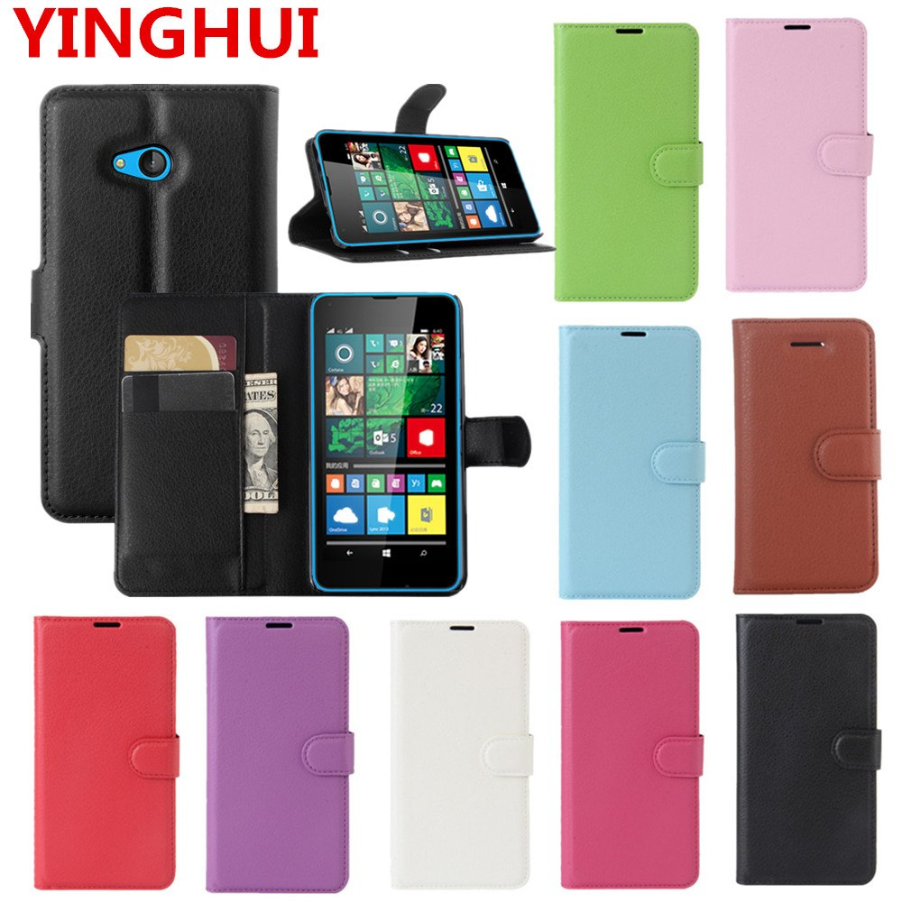 new product 37bad 4faab For Microsoft Lumia 640 Case Luxury Wallet PU Leather Back Cover Phone Case  For NOKIA Lumia 640 Case Flip Protective Cover Bag