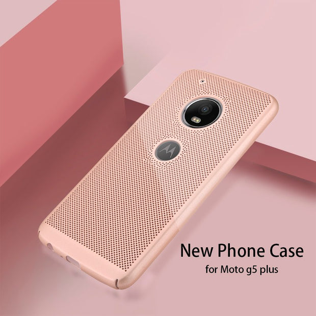 For Moto G5 Plus Case Luxury Ultra-Thin Heat Dissipation Phone Cover For Moto G5 Motorola G5Plus Hard Back PC Full Protect Coque