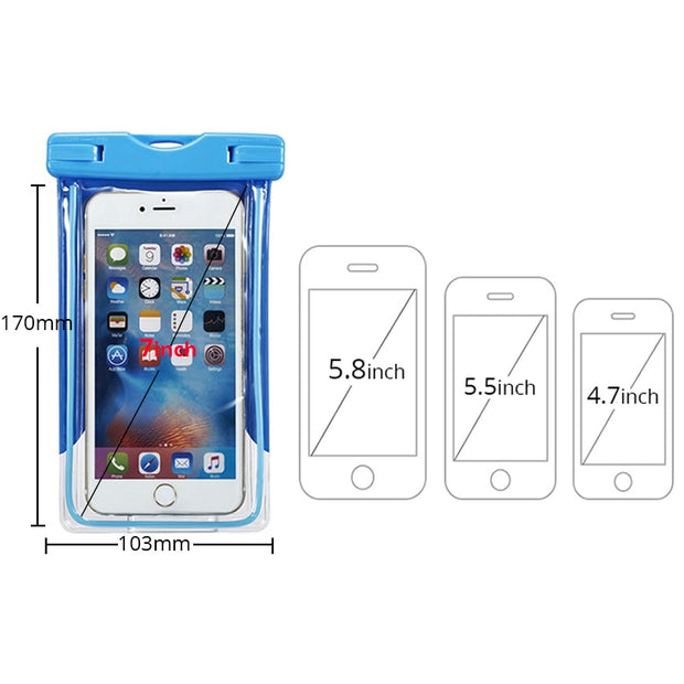 For Nokia 6 Waterproof Case 950xl Mobile Phone Underwater Pouch Transparent Bags Cover For LG G6 G5 For Oppo Find X R9s Vivo X9