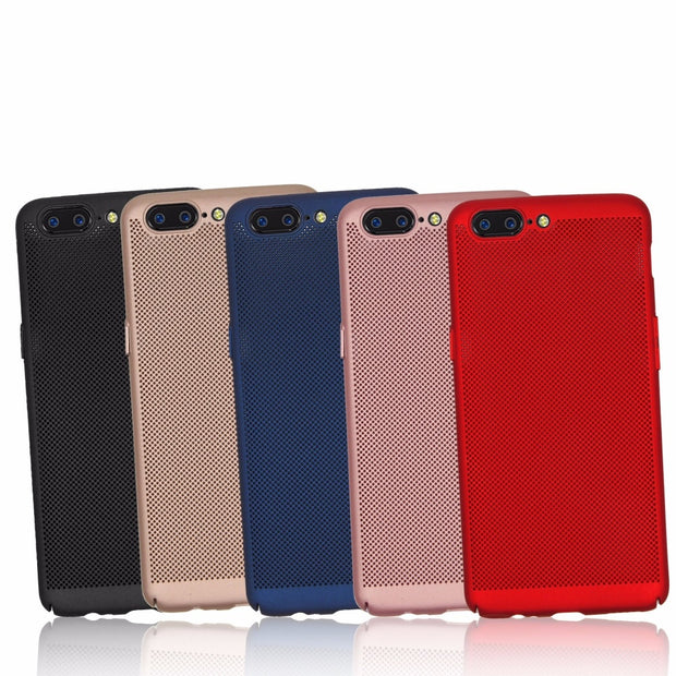 For OnePlus 5 Case Luxury Ultra-Thin Heat Dissipation Phone Cover For 1+5 OnePlus Five 5 Hard Back PC Full Protect Coque