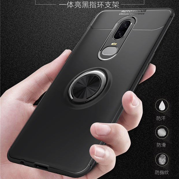 official photos 2c8f1 1dc7a For OnePlus 6 Case For OnePlus 6T Luxury Metallic Ring Soft Silicone Cover  ShockProof Case For OnePlus 6 6T 6 T Full Phone Cases