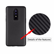 For Oneplus 6 Case Luxury Shockproof Carbon Fiber Ultra Thin Soft TPU Phone Case For Oneplus6 Slicone Back Cover For 1+6