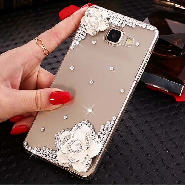 "For Samsung Galaxy A5 2017 A520 A520F SM-A520F Case Luxury Rhinestones PC Hard Cover For Samsung A5 2017 5.2"" (A5 2017) NOT A5"