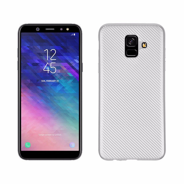 For Samsung Galaxy A6 2018 A6 PLUS 2018 Case Luxury Shockproof Carbon Fiber Ultra Thin Soft TPU A9 2018 CASE Slicone Back Cover