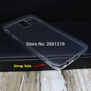 For Samsung Galaxy A6 (2018) A600F / A6 Plus (2018) Ultra Thin Soft TPU Camera Protect Silicon Gel Transparent Case Back Cover
