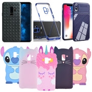For Samsung Galaxy A8 2018 Case Silicone Judy Shy Horse Cat Weave Carbon Fiber Phone Cover Cases For Samsung A8 Plus 2018