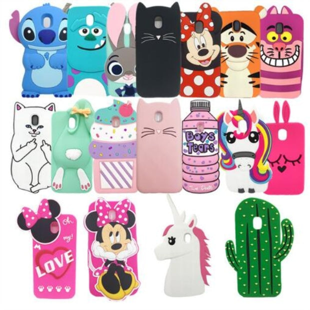 For Samsung Galaxy J3 J310 J5 J510 J7 2016 J330 J530 J730 Case Cute 3D Cartoon Minnie Cat Soft Silicon Case Back Cover Capas